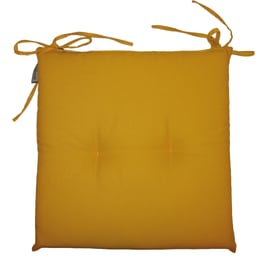 Cuscino per sedia antimacchia Dudu giallo 40 x 40 cm