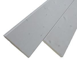 Listone sottotetto abete verniciato bianco 20 x 150 x 2000 mm