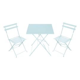 Tavolo Flora Origami azzurro
