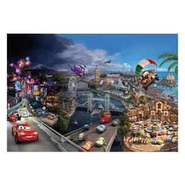 Fotomurale Cars world multicolor 368 x 254 cm