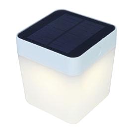Lampada solare Table cube bianco
