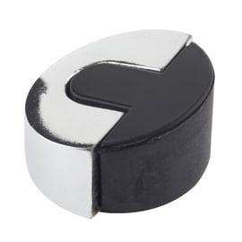 Fermaporta adesivo nero e grigio lucido