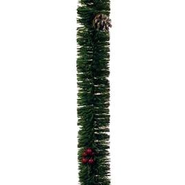 Festone ghirlanda con pigne e bacche, 2 m