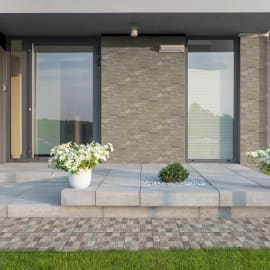 Rivestimento decorativo Brunico grigio/beige