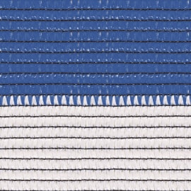 Rete ombreggiante Soleado Sport a strisce orizzontali bicolore bianco e blu L 5 x H 2 m