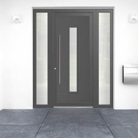 portoncino d'ingresso PVC Modern5 grigio L 170 x H 210 dx