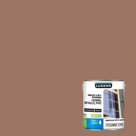 Smalto Luxens 3 in 1 all'acqua Marrone Talpa 3 satinato 2.5 L