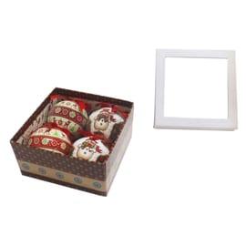 Box sfere decoro fantasia ø 7,5 cm