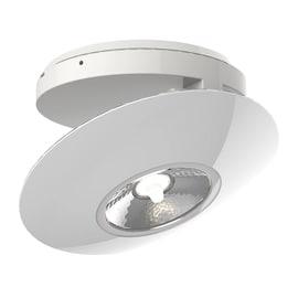Faretto da incasso avorio LED integrato regolabile quadrato Ø 15 cm 8,5 W = 300 Lumen luce calda