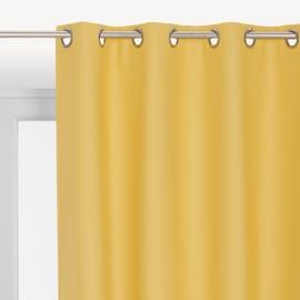 Tenda oscurante occhielli giallo 140 x 280 cm
