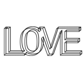Scritta Love 44x17