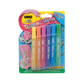 Colla colori assortiti pastello Glitter glue brillante 10 g