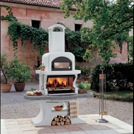 Barbecue in muratura con cappa e forno Capri 2
