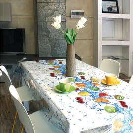 Tovaglia plastificata Cristallo frutta trasparente 160 x 140 cm
