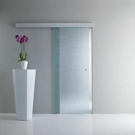 Porta da interno scorrevole Eridano trasparente 86 x H 215 cm reversibile