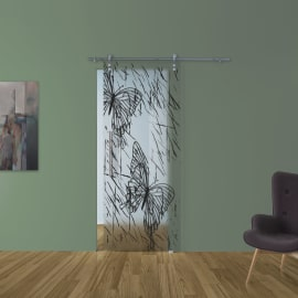 Porta da interno scorrevole Butterfly 88 x H 215 cm dx