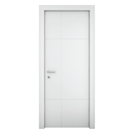 Porta da interno battente Urban bianco 80 x H 210 cm dx