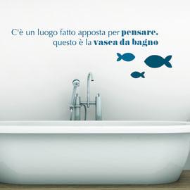 Sticker Words Up L Bathroom Pensare