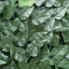 Siepe artificiale con foglie in poliestere simil lauro L 3 x H 1 m