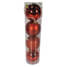 Tubo sfere rosse ø 12 cm
