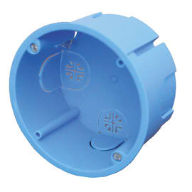 Scatola tonda Rotonda per cartongesso azzurro