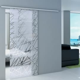 Porta da interno scorrevole Atena Trasparente 86 x H 215 cm reversibile