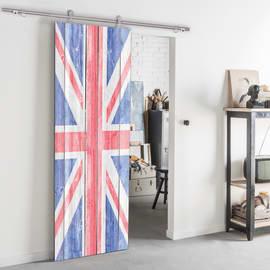 Porta da interno scorrevole London 92,5 x H 211,5 cm reversibile