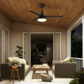 Ventilatore da soffitto con luce per esterno Farou