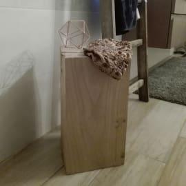 Tronco quadro legno L 25 - 30 x P 30 x H 45 cm grezzo