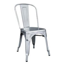 Sedia impilabile argento