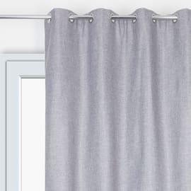 Tenda Copenhague Oscurante termica occhielli grigio 135 x 280 cm