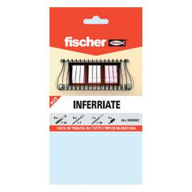 6 kit di fissaggio Fischer Inferriate ø 10 x 80  mm con vite