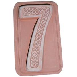 Numero civico sette 5 x 9 x 1,5 cm cotto