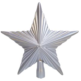 Puntale stella 5 punte argento 25 cm