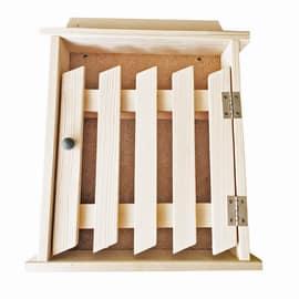 Bacheca porta chiavi Cancello bianco 24 x 5 x 29 cm