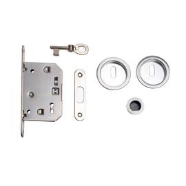 Maniglia per porta scorrevole tonda con serratura