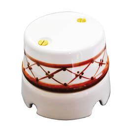 Scatola tonda Eurokeramic Derivazione ceramica Bianco, Marrone