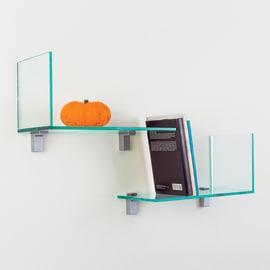 Mensola a L Elle trasparente L 40 x P 18, sp 0,8 cm