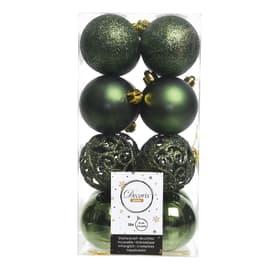 Box sfere verde ø 6 cm