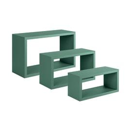 Set 3 rettangoli Spaceo verde, sp 1,8 cm