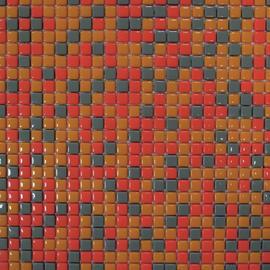 Mosaico Pop 30 x 30 cm arancione, grigio, giallo