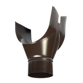 Convogliatore pluviale in metallo Ø 80 mm