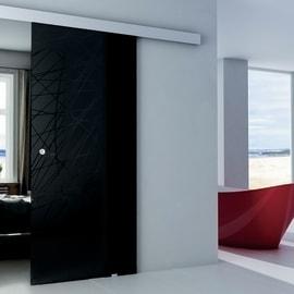 Porta da interno scorrevole Armonia Fumè 86 x H 215 cm reversibile