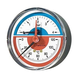 Termomanometro attacco posteriore Ø 80 mm