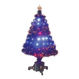 Albero di Natale artificiale Fibre ottiche e led H 120 cm