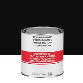 Smalto per ferro antiruggine nero brillante 0,75 L