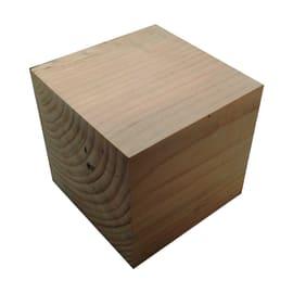 Mini cubo legno L 15 x P 15 x H 15 cm grezzo