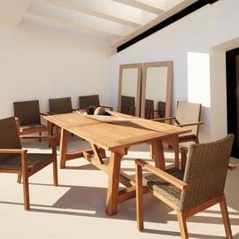 Set tavolo e sedie Quebec marrone