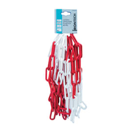 Catena genovese lunga in plastica Ø filo 6 mm x 5 m, bianca/rossa