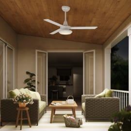 Ventilatore da soffitto con luce per esterno led integrato Breva IP44